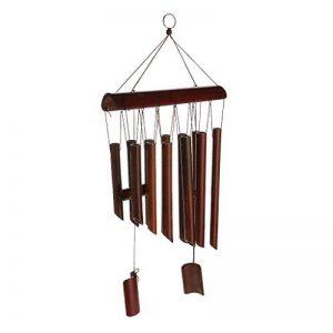 Carillon à Vent en Bambou Couleur de Bois Décoration pour Cour Jardin en Plein Air de la marque Générique image 0 produit