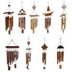Carillon à Vent en Bambou Couleur de Bois Décoration pour Cour Jardin en Plein Air de la marque Générique image 4 produit