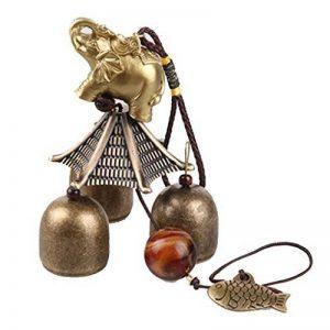 Carillon à Vent Suspendu Chanceux Chinois Cloche de Métal Poisson Eléphant de la marque MagiDeal image 0 produit