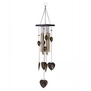 Carillon à Vent Tubes en Métal Coeur Décoration pour Maison Jardin de la marque MagiDeal image 0 produit