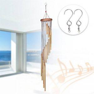 Carillons en Spirale Dewel 18 Tubes en Alliage d'aluminium 91 cm avec 2 Crochets Pour Jardin Extérieur en Plein Air Chambre Enfants Salon de Musique de la marque Dewel image 0 produit