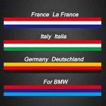 carrosserie Décoration drapeau national de pâte de rayures pour BMW Allemagne Italie France Drapeau Couleur originale (1metre) de la marque RGAta image 1 produit
