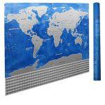Carte de drapeau de YULAN-PVC Carte du monde imperméable à l'eau Grande grande carte du monde avec des drapeaux de pays Nouveau (multicolore) de la marque YULAN image 2 produit