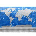 Carte de drapeau de YULAN-PVC Carte du monde imperméable à l'eau Grande grande carte du monde avec des drapeaux de pays Nouveau (multicolore) de la marque YULAN image 3 produit