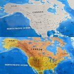 Carte de drapeau de YULAN-PVC Carte du monde imperméable à l'eau Grande grande carte du monde avec des drapeaux de pays Nouveau (multicolore) de la marque YULAN image 1 produit