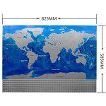 Carte de drapeau de YULAN-PVC Carte du monde imperméable à l'eau Grande grande carte du monde avec des drapeaux de pays Nouveau (multicolore) de la marque YULAN image 5 produit