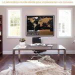Carte du monde à gratter XXL Escapades©, Edition Premium avec les drapeaux de tous les pays. Grattez les endroits que vous avez visité. Le cadeau idéal pour les voyageurs. Grande taille : 82 x 59 cm, décoration murale idéale + Accessoires GRATUITS en bonu image 4 produit