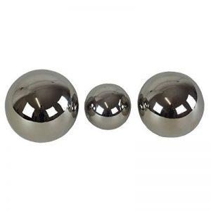Casablanca 3tlg. Set Dekokugel Silverball aus Keramik silber 76727 de la marque CASABLANCA image 0 produit