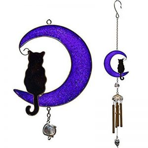 Cat On The Moon Hanging Windchime de la marque Hunky Dory Gifts image 0 produit