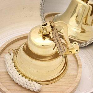 CE Hand Made Items Cloche de bateau en laiton 17,8cm, pour porte, support inclus de la marque CE Hand Made Items image 0 produit