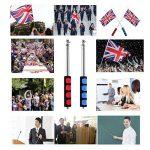 Ceebon Bâton télescopique de 120 et 140 cm en acier inoxydable pour drapeau, pointeur pour professeur, guide touristique, randonneurs, lot de 2 de la marque CEEBON image 6 produit