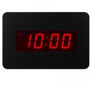 ChaoRong Réveil électrique Horloge murale pour les chambres actionnées par batterie seulement (noir), avec clip arrière. Vous pouvez le placer sur un bureau ou un mur (noir) de la marque J&F ZHU image 0 produit