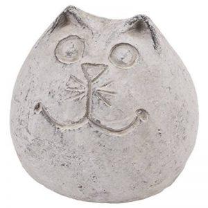 Chat Boule Objet de décoration en pierre gris Jardin Figurine, Pierre, gris, 9x10x10cm de la marque Dadeldo image 0 produit