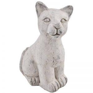 Chat Objet de décoration en pierre gris Jardin Figurine, Pierre, gris, 31x21x15cm de la marque Dadeldo image 0 produit