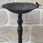 chemin_de_campagne Bain d'Oiseaux sur Pied en Fonte Gris 75 cm de la marque chemin_de_campagne image 1 produit