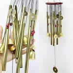 Chinois étonnants 10 Tubes traditionnels 5 Bells Bronze Cour Jardin En plein air Wind Chimes 85cm Apportez argent Chance, meilleur cadeau de la marque BWINKA image 2 produit