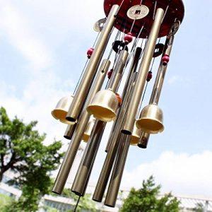 Chinois étonnants 10 Tubes traditionnels 5 Bells Bronze Cour Jardin En plein air Wind Chimes 85cm Apportez argent Chance, meilleur cadeau de la marque BWINKA image 0 produit