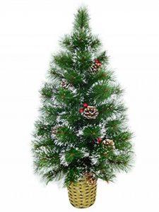 Christmas Concepts® Arbre Mural Givré Décoré de 90 cm avec des Cônes et des Baies Naturels - Arbre de Noel de la marque Christmas Concepts® image 0 produit