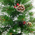 Christmas Concepts® Arbre Mural Givré Décoré de 90 cm avec des Cônes et des Baies Naturels - Arbre de Noel de la marque Christmas Concepts® image 1 produit