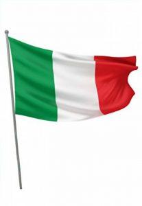 Ciao–Drapeau Italie en tissu avec tige, vert/blanc/rouge, 90x 60cm, 22093 de la marque Ciao image 0 produit