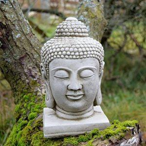 Classique Décoration de jardin Tête de Bouddha Statue Sculpture en pierre en fonte Unique sur mesure de la marque Worldofstone image 0 produit