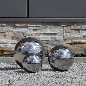 CLGarden Ensemble de 3 balles en acier inoxydable, composé de trois boules en acier inoxydable de 15cm, 20cm et 25cm de diamètre, balle flottante de la marque CLGarden image 0 produit