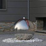 CLGarden ESB5 Fontaine de luxe en acier inoxydable poli Grande boule de fontaine 48cm, pour le jardin avec clairage LED de la marque CLGarden image 1 produit