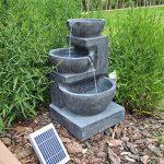 CLGarden Fontaine solaire nsp12avec batterie et éclairage LED pour jardin terrasse balcon de la marque CLGarden image 1 produit