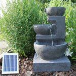 CLGarden Fontaine solaire nsp12avec batterie et éclairage LED pour jardin terrasse balcon de la marque CLGarden image 2 produit