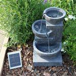 CLGarden Fontaine solaire nsp12avec batterie et éclairage LED pour jardin terrasse balcon de la marque CLGarden image 3 produit