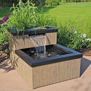 CLGarden MTWS1 miniature avec LED Cascade, Mini bassin pour jardin balcon terrasse de la marque CLGarden image 0 produit