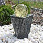CLGarden SB17 Fontaine en granit avec éclairage LED et boule de verre rotative. La balle est entraînée uniquement par la puissance hydraulique de la pompe. de la marque CLGarden image 2 produit