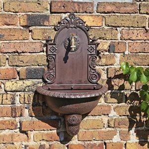 CLGarden WB1 Fontaine Murale de au design nostalgique Pompe à eau fontaine de jardin avec lavabo de la marque CLGarden image 0 produit