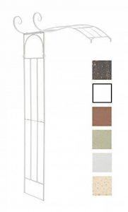 CLP Arche semi-circulaire à rosiers JASMIN, fixation au mur, en fer stable, passage: hauteur 222 cm, largeur 135 cm blanc de la marque CLP image 0 produit