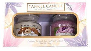 Coffret cadeau de 2bougies parfumées en pot Yankee Candle, fragrances Soft Blanket et Lovely Kiku de la marque My Planet image 0 produit