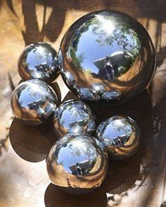 Coffret PVC de 6 boules 100% DÉCO en ACIER INOX ultra-brillant - Ø 4,5 & 8 cm de la marque CASABLANCA image 0 produit