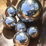 Coffret PVC de 6 boules 100% DÉCO en ACIER INOX ultra-brillant - Ø 4,5 & 8 cm de la marque CASABLANCA image 1 produit