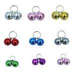 Collier pour chat Bells- 18pcs coloré Chien Chat Charm cloches pour colliers Collier Pendentif Accessoires avec lot de 20porte-clés de la marque BingPet image 2 produit