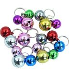 Collier pour chat Bells- 18pcs coloré Chien Chat Charm cloches pour colliers Collier Pendentif Accessoires avec lot de 20porte-clés de la marque BingPet image 3 produit