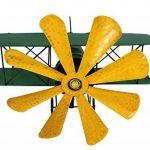 Colourliving® Carillon éolienne Métal Avion biplan vert jaune décoration de jardin de la marque colourliving image 3 produit