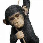 Colourliving® Statue Singe Chimpanzé le Corde Statue de jardin décoration Figurine Figurine animale de la marque colourliving image 1 produit