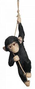 Colourliving® Statue Singe Chimpanzé le Corde Statue de jardin décoration Figurine Figurine animale de la marque colourliving image 0 produit