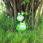 """'COM-FOUR Figurine """"Assis, grenouille, statue de jardin en métal laqué multicolore motif grenouille, env. 26,5x 18x 18cm de la marque com-four image 2 produit"""