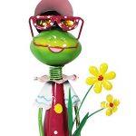 """Com-Four Figurine femme """"Grande Grenouille avec fleurs, jardin figurine en métal laqué multicolore en forme de grenouille, env. 68x 16,5x 16,5cm de la marque com-four image 2 produit"""