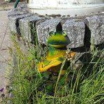 """'COM-FOUR Figurine """"Grenouille avec guitare, statue de jardin en métal laqué multicolore motif grenouille, env. 30x 23x 16cm de la marque com-four image 1 produit"""