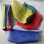 Commerce équitable bouddhiste tibétain népalais Chevaux de vent Coton drapeaux de prière–Lot de 525Ficelle 22cm x 16cm de la marque NATURAL FLOW image 1 produit