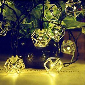 cordes lumineuse, Chaîne de lumière creuse de fer solaire/20LED jour de Noël en plein air, paysage, lumières décoratives de jardin de la marque YHFXD image 0 produit