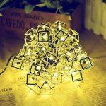 cordes lumineuse, Chaîne de lumière creuse de fer solaire/20LED jour de Noël en plein air, paysage, lumières décoratives de jardin de la marque YHFXD image 1 produit