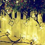 cordes lumineuse, Chaîne de lumière creuse de fer solaire/20LED jour de Noël en plein air, paysage, lumières décoratives de jardin de la marque YHFXD image 2 produit