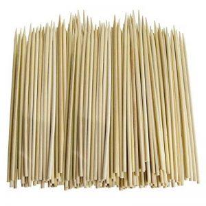 Cosmall @ 200x brochettes de bambou pour barbecue kebab Fruits à chocolat Bâtons en bois 30cm de la marque COSMALL image 0 produit